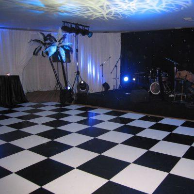 BLACK & WHITE DANCE FLOORS