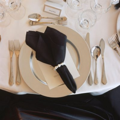 SILVER CHARGERS & NAPKIN RINGS