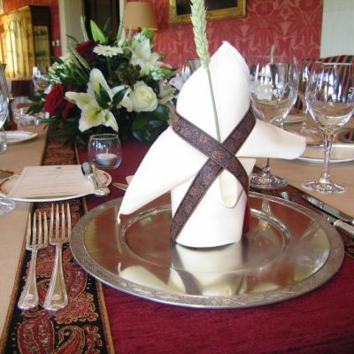 PEWTER CHARGERS & NAPKIN WRAPS